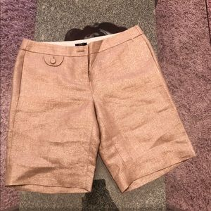 J Crew gold Shorts